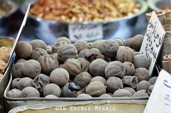 Dried Limes at Middle Eastern Spice Market in Syria