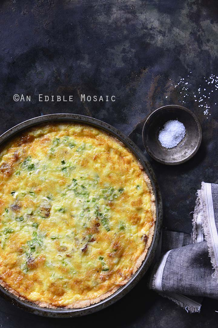 Whole Low-Carb Keto Quiche Lorraine in Tart Pan