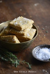 Swiss Cheese and Thyme Homemade Gluten Free Crackers