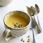 Easy Pumpkin Soup Recipe for One with Pumpkin Spice Front View