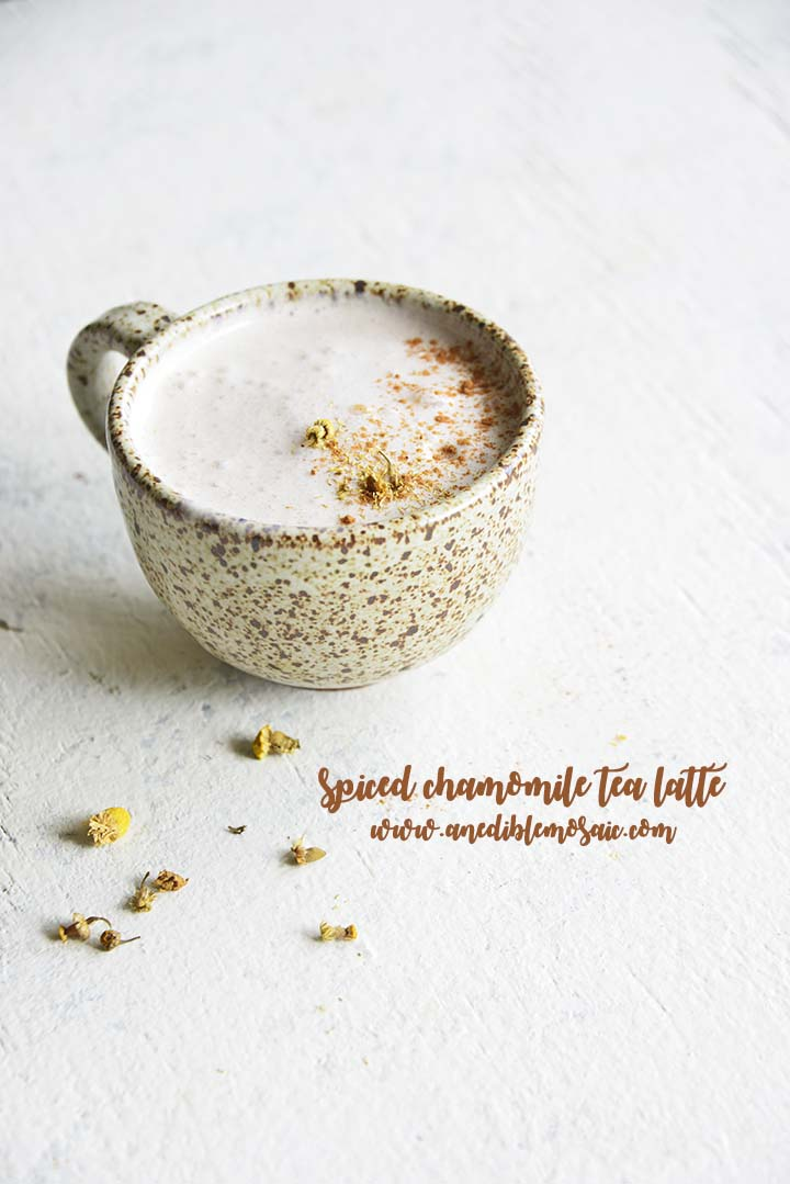 Spiced Chamomile Tea Latte with Description