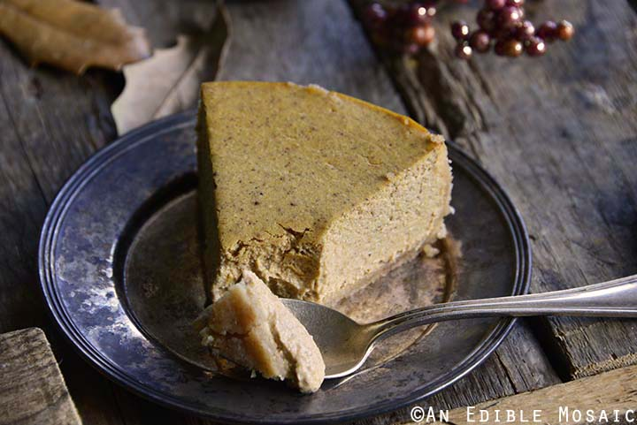 Low Carb Pumpkin Spice Cheesecake Recipe with Spoon