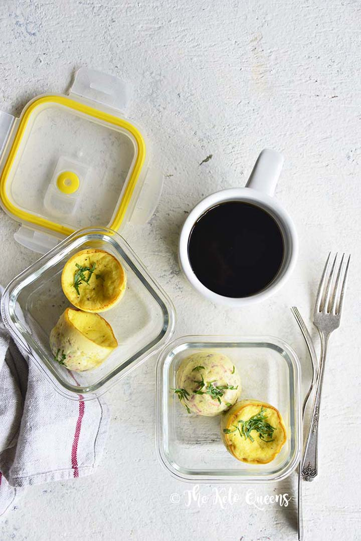 Meal Prepped Instant Pot Sous Vide Egg Bites with Coffee