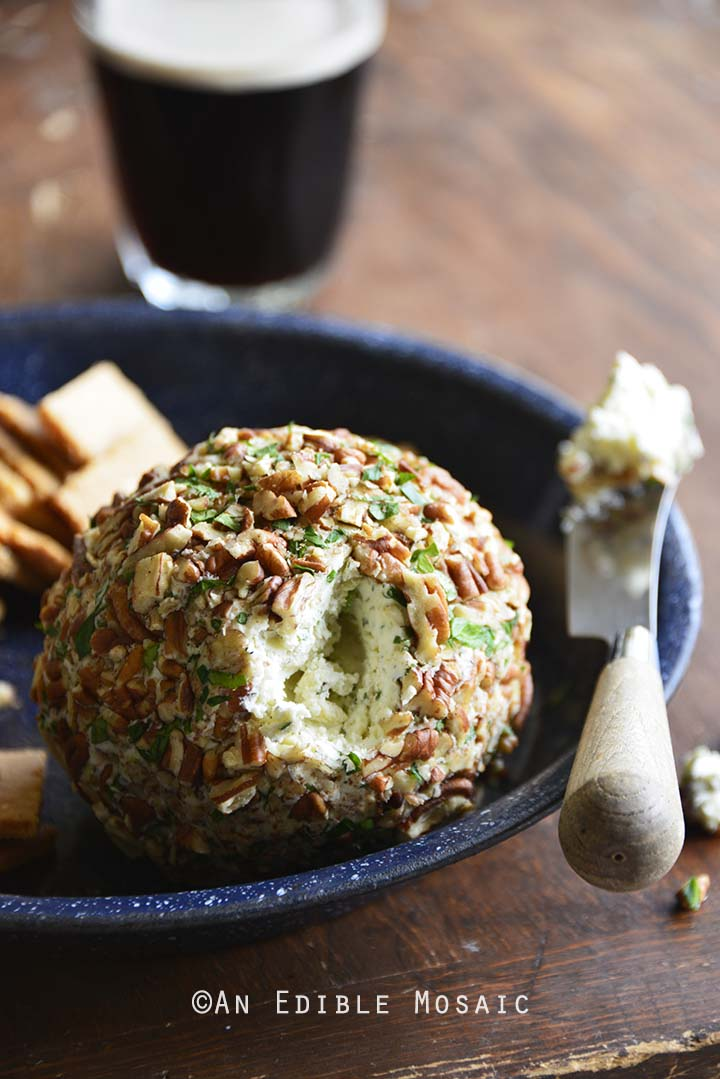 Close Up of Easy Ranch Cheese Ball Recipe (Low Carb Appetizer)