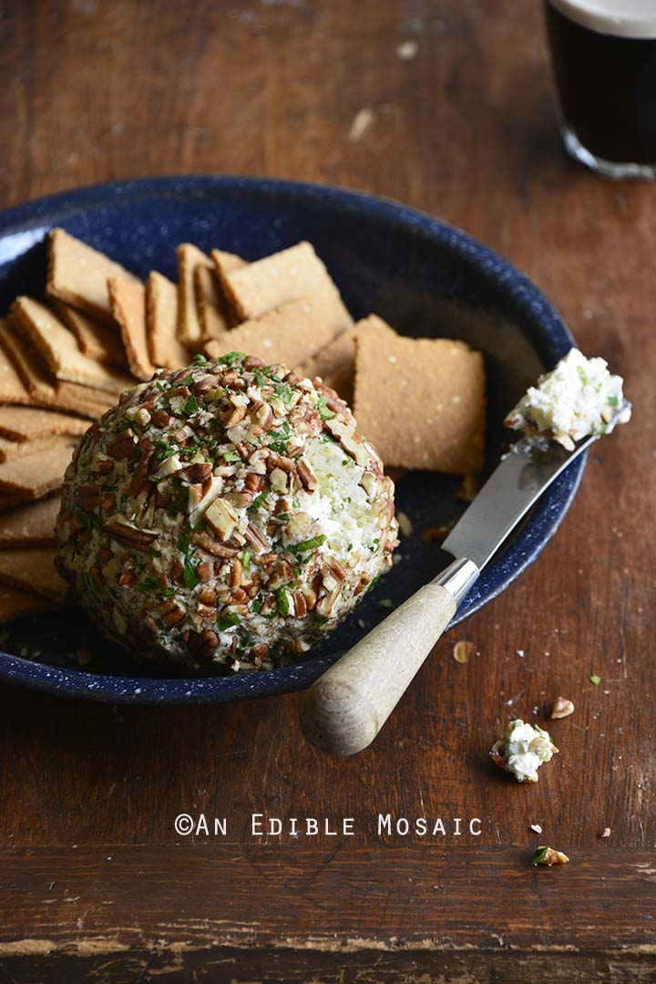 Front View of Easy Ranch Cheese Ball Recipe (Low Carb Appetizer)