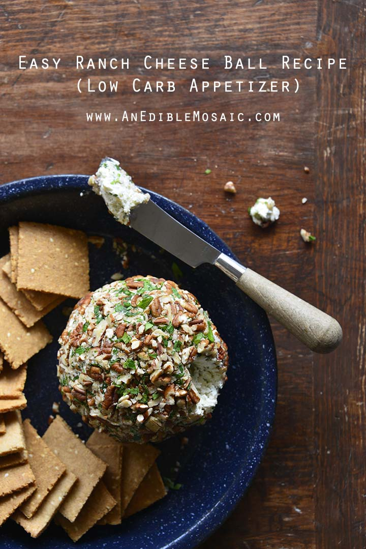 Easy Ranch Cheese Ball Recipe (Low Carb Appetizer) with Description
