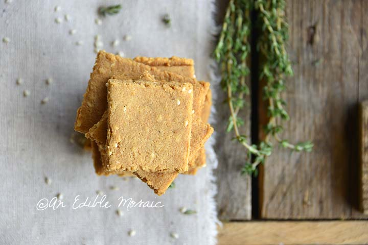Top View of Low Carb Butter Crackers Recipe