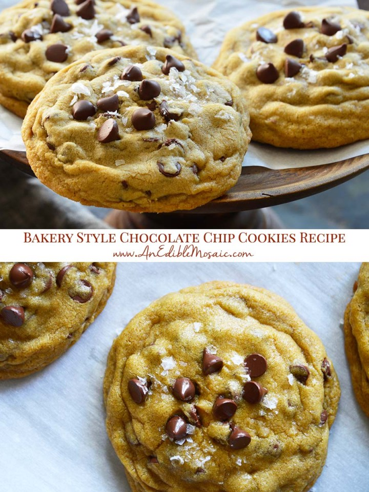 Small Batch Bakery Style Chocolate Chip Cookies Recipe Pinnable Image