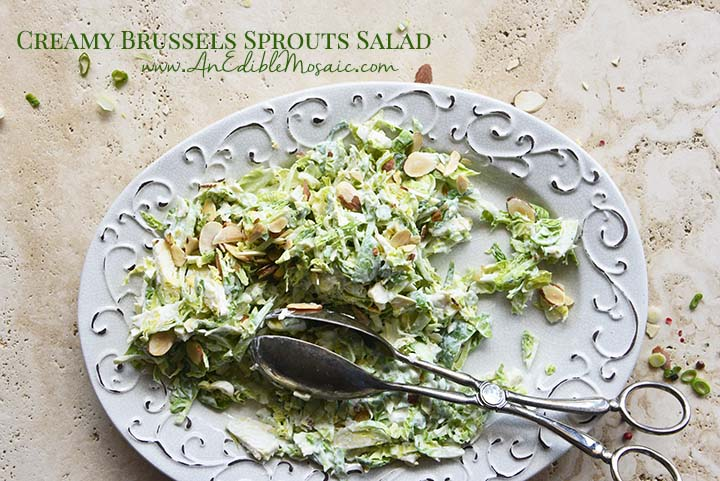 Creamy Brussels Sprouts Salad with Description