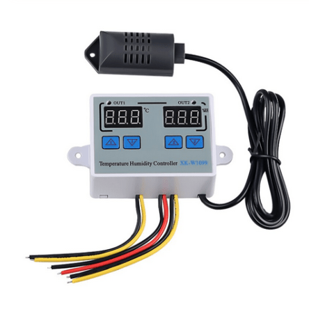 W1099 Digital Temperature Humidity Controller Home Fridge Thermostat Humidistat 10A Direct Output Thermometer Hygrometer Control