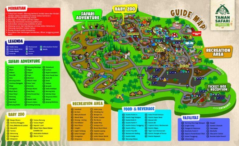 Peta Taman Safari Prigen