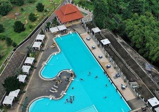 Aerial view di resort Giri Tirta Kahuripan