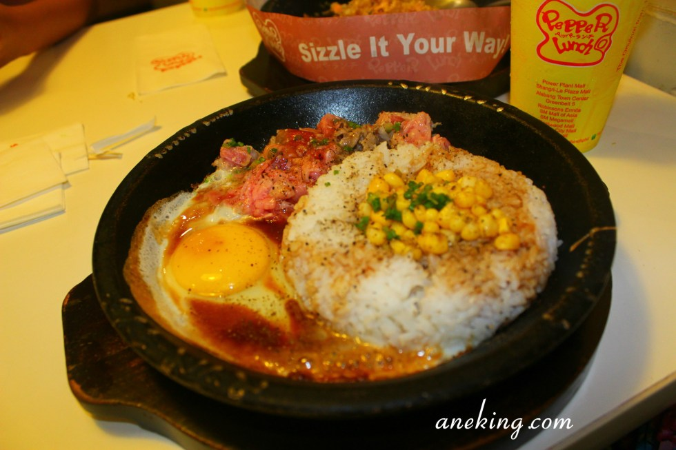 5. teriyaki beef pepper rice with egg