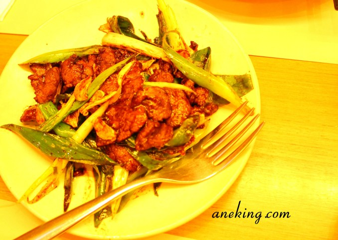 Sauteed Sliced Beef with Scallions