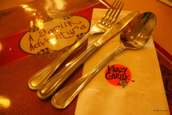 krazy garlik menu