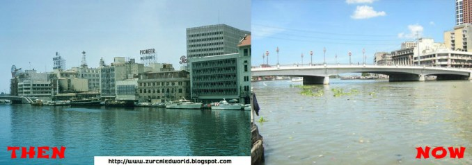 Pasig River then and now