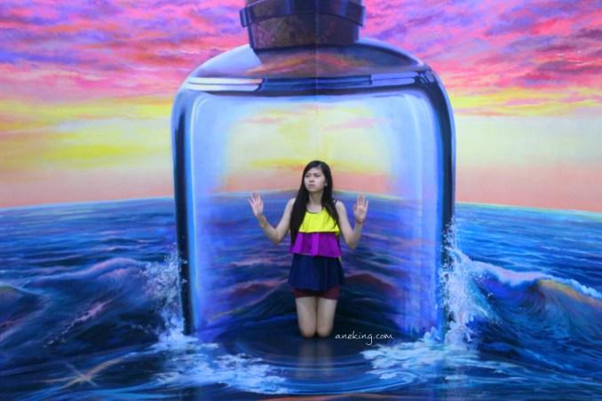 bottle in art in island
