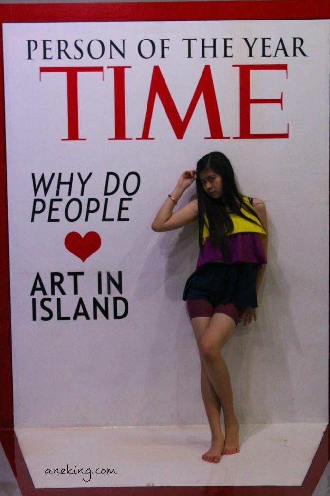 time magazine in art in island