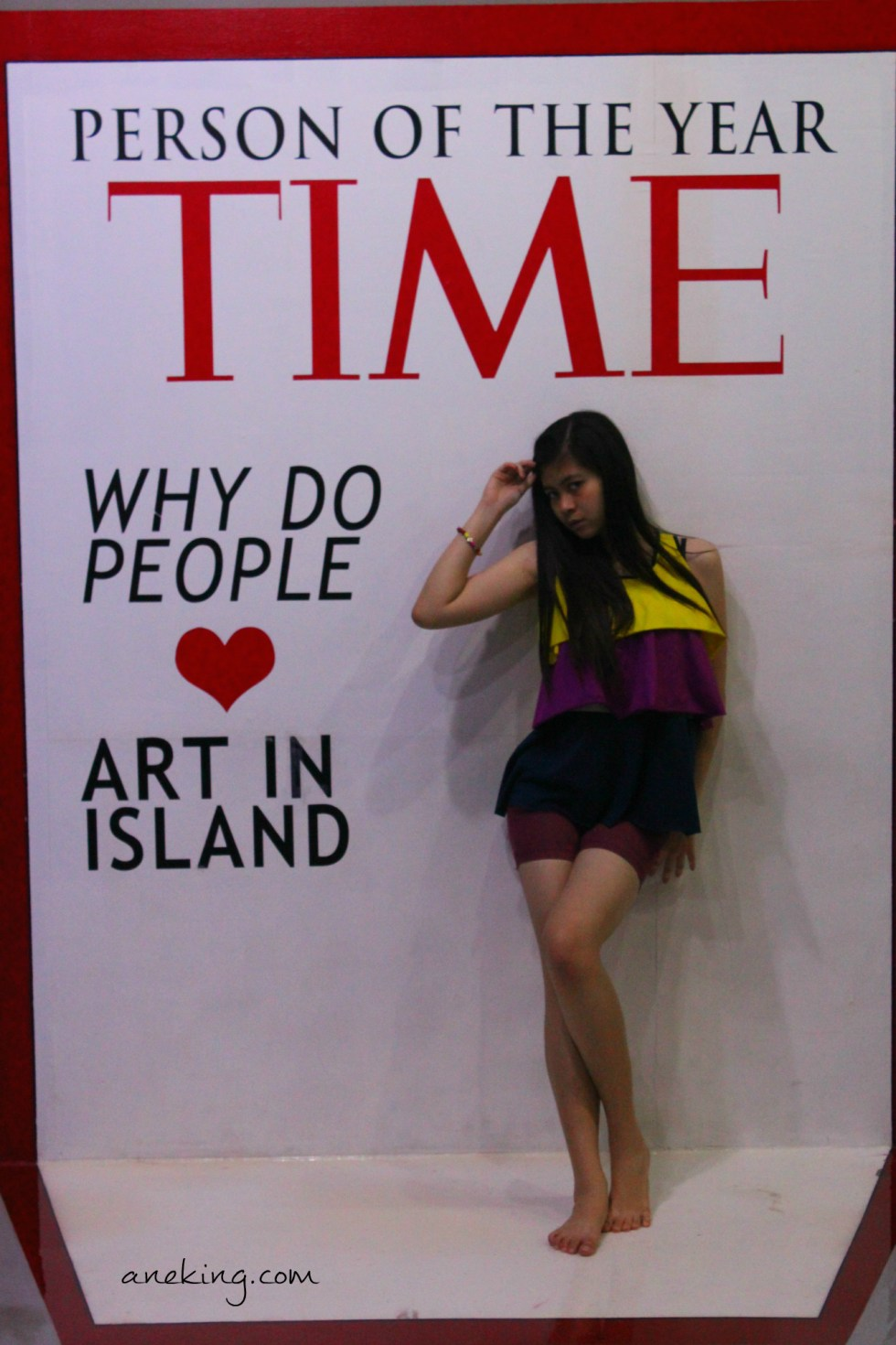 time magazine in art in island