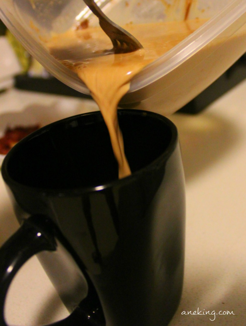 7. Pour it into a mug or cup.
