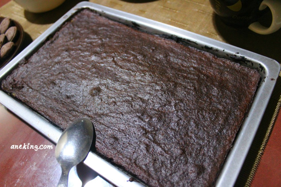 6. When done, let the brownies cool.