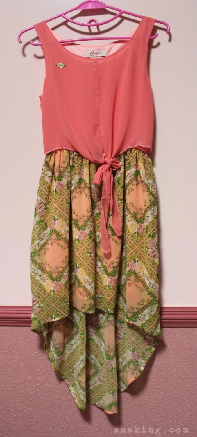 candies floral pink dress
