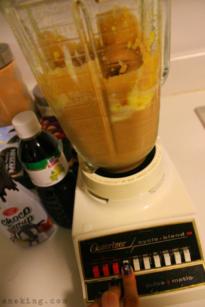 6. For the last time, blend the mixture and set it aside.