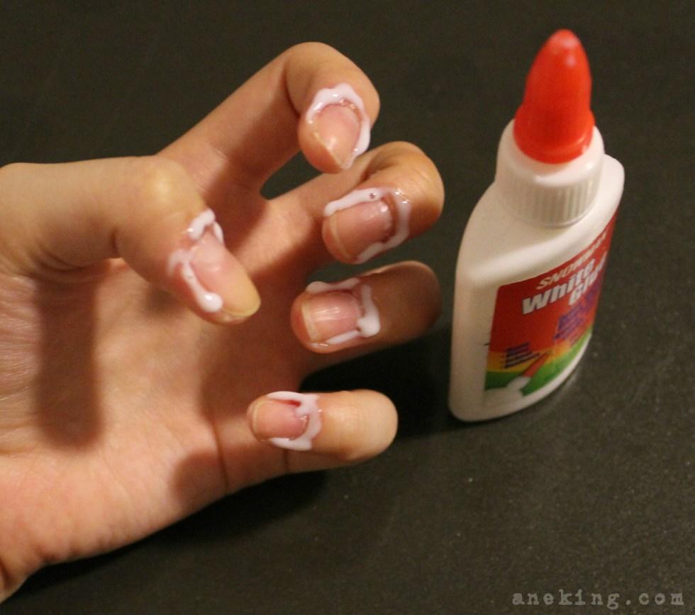 gradient nail polish step 2