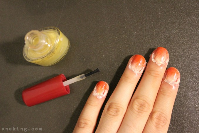 gradient nail polish step 6
