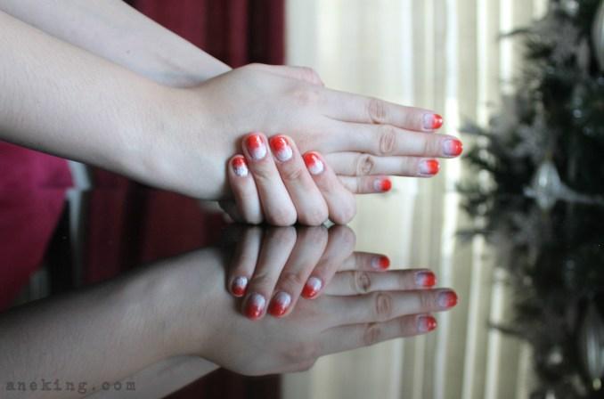 gradient nail polish