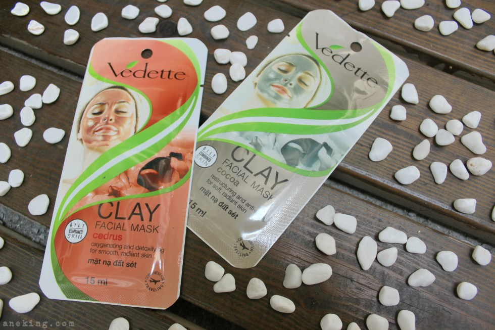 vedette clay facial mask