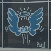 Storefront tribute art