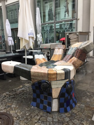 A handy place to sit in Linz, Austria