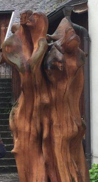 Modern Wood Sculpture, Salzburg, Austria