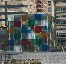 Glass box sculpture -Malaga, Spain