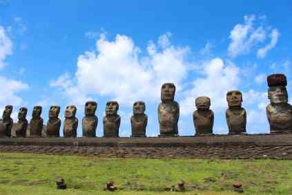 Moai at Ahu Tongariki