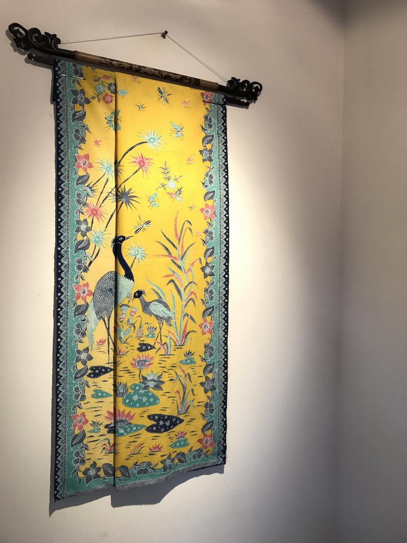 Batik Pekalongan Kain Panjang - Yellow Lotus Pond - aNERDgallery