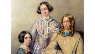 From The TELEGRAPH, watercolor believed to portray the Brontë sisters