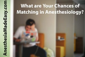 Chances of Matching in Anesthesiology