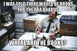 Anesthesia Board Books