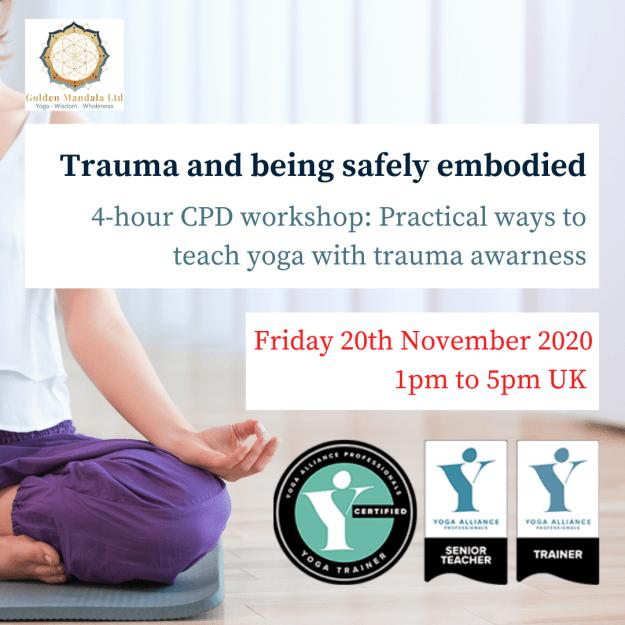 trauma informed yoga, trauma sensitive yoga, trauma online training, yoga teacher trauma training, CPD trauma training