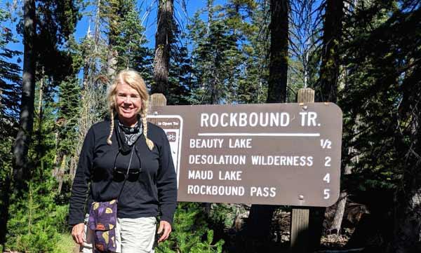 Rockbound Trailhead near Wrights Lake with Anet