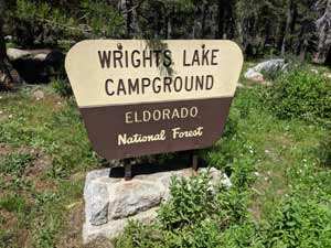Wrights Lake Campground Sign