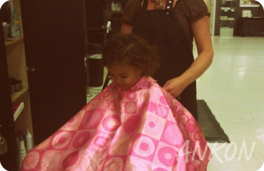 getting ready for first haircut