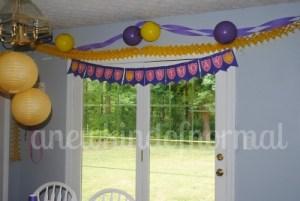 Abby's Tangled Birthday Party Decor