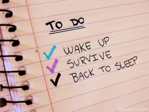 To Do List for Surviving a Flare