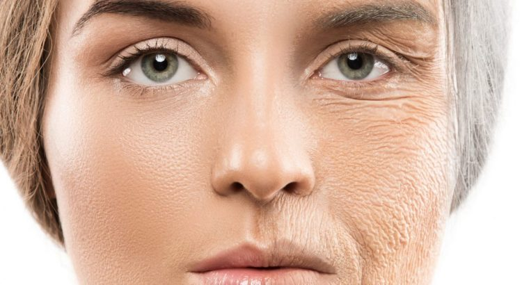 photo of older woman transformation that can be achieved with anti-aging skin treatments.