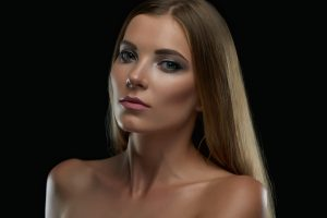 Woman with glowing skin from drmaplaning
