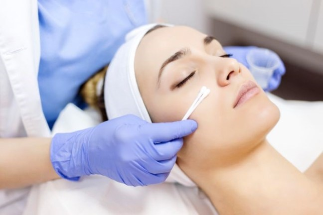 Chemical peels can fight unwanted blemishes.