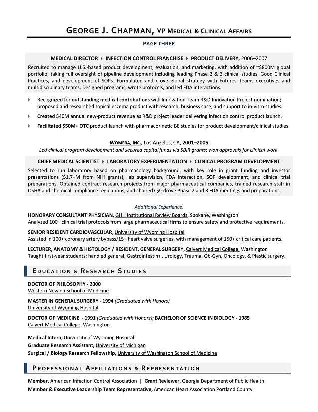 Doctor Of Medicine Resume Sample. Resume Examples Doctors Medical